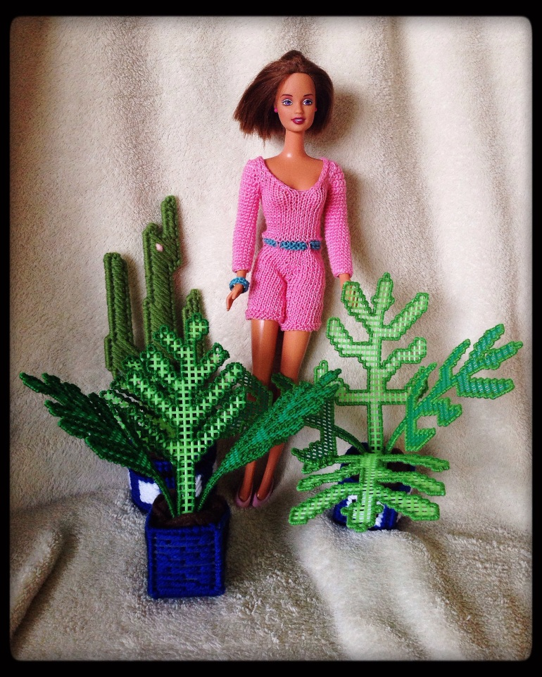 Peri with plants.