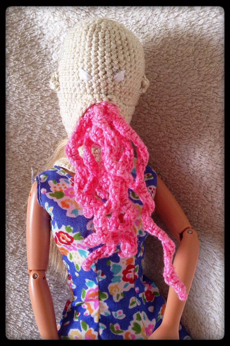 A Barbie sized Prototype Ood Mask.